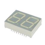 DA08-11CGKWA Kingbright 2 Digit 7-Segment LED Display, CA Green 38 mcd RH DP 20.3mm