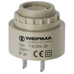 Werma 90dB, Panel Mount Continuous, Slow Pulse Internal Piezo Buzzer