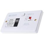 MK Electric Logic Plus 13A, BS Fixing, Passive, Single Gang RCD Socket, Urea Formaldehyde, Flush Mount , Switched,
