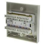 HellermannTyton Cat5e 4 Way RJ45 Face Plate,With UTP Shield Type