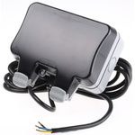 BG Electrical 13A, BS Fixing, Passive, 2 Gang RCD Socket, Polycarbonate, Surface Mount , Switched, IP66 , Outdoor,