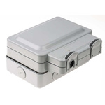 MK Electric Masterseal plus 13A, BS Fixing, Active, Single Gang RCD Socket, Polycarbonate, Surface Mount, IP66, Grey