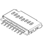 Molex, 105162 8 Way Horizontal Micro SD Micro SD Card Connector With Push In Termination