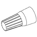 Molex, 19160 Crimp Butt Splice Terminal, Natural, Insulated, Tin 16 → 10 AWG