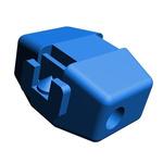 TE Connectivity Open Barrel Splice Connector, Blue, Insulated, Tin 16 → 14 AWG