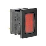 Red neon indicator, 240V, black body,13x
