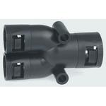 Adaptaflex Y Piece Cable Conduit Fitting, Black 21mm nominal size