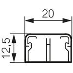 Legrand White Mini Trunking, W12.5 mm x D20mm, L2.1m, Plastic