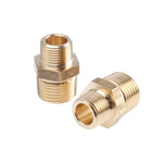 Legris Brass 1/2 in BSPT Male x 3/8 in BSPT Male Straight Adapter Threaded Fitting