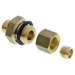 Legris 6mm x 1/4 in BSPP Male Straight Coupler Brass Compression Fitting