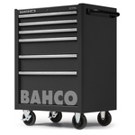 Bahco 6 drawer Stainless Steel (Top) WheeledTool Chest, 985mm x 677mm x 501mm