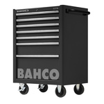 Bahco 7 drawer Stainless Steel (Top) WheeledTool Chest, 985mm x 677mm x 501mm