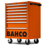 Bahco 8 drawer Stainless Steel (Top) WheeledTool Chest, 985mm x 677mm x 501mm