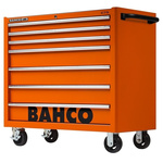 Bahco 7 drawer Stainless Steel (Top) WheeledTool Chest, 985mm x 1016mm x 501mm