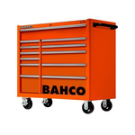 Bahco 12 drawer Stainless Steel (Top) WheeledTool Chest, 985mm x 1016mm x 501mm