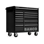 Bahco 12 drawer Stainless Steel WheeledTool Chest, 985mm x 1016mm x 501mm