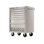 Bahco 7 drawer Stainless Steel WheeledTool Chest, 860mm x 580mm x 780mm