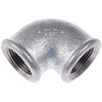 Georg Fischer Malleable Iron Fitting Elbow, 3/4 in BSPP Female (Connection 1), 3/4 in BSPP Female (Connection 2)