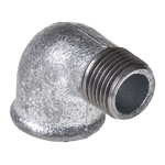 Georg Fischer Malleable Iron Fitting Elbow, 1/2 in BSPT Male (Connection 1), 1/2 in BSPP Female (Connection 2)