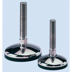 8888 Adjustable Feet A087/010 M20 125mm, 75mm Dia. Stainless Steel, Stainless Steel 1750kg Static Load Capacity 10°