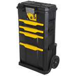 Stanley 4 drawer Aluminium, Plastic Wheeled, 866mm x 348mm x 488mm