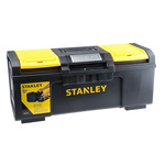 Stanley One Touch 2 drawers  Plastic Tool Box, 600 x 255 x 280mm