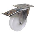 Guitel Braked Swivel Castor Wheel, 250kg Load Capacity, 150mm Wheel Diameter