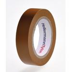 HellermannTyton HelaTape Flex Brown Electrical Tape, 15mm x 10m