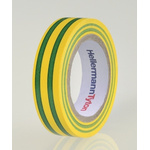 HellermannTyton HelaTape Flex Green, Yellow Electrical Tape, 15mm x 10m