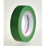 HellermannTyton HelaTape Flex Green Electrical Tape, 15mm x 10m