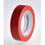 HellermannTyton HelaTape Flex Red Electrical Tape, 15mm x 10m
