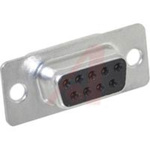 connector,d-sub,standard receptacle,9 solder cup socket contact,tin plated shell