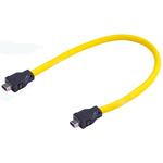 Harting Cat6a Cable 500mm, Yellow, Female ix/Female ix