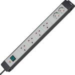 brennenstuhl 3m 6 Socket BS, Schuko Extension Lead
