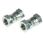Parker Hydraulic Straight Threaded Adapter 4H6K4S, Connector A G 1/4 Female, Connector B G 1/4 Female