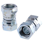 Parker Hydraulic Straight Threaded Adapter 16H6K4S, Connector A G 1 Female, Connector B G 1 Female