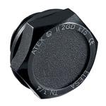 Elesa 58296-EX Black Hex Knob, G 3/8