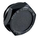 Elesa 58298-EX Black Hex Knob, G 3/4