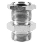 Parker Hydraulic Straight Threaded Adapter 12WMK4WL4NMS, Connector A G 3/4 Male, Connector B G 3/4 Male