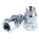 Parker Hydraulic Straight Threaded Adapter 6-6F6MK4S, Connector A G 3/8 Female, Connector B G 3/8 Male