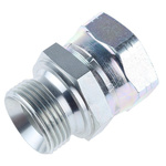 Parker Hydraulic Straight Threaded Adapter 16-16F6MK4S, Connector A G 1 Female, Connector B G 1 Male