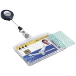 Durable Transparent Polystyrene ID Badge Includes Badge Reel