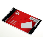 RS PRO 125 x 200 mm Wirebound Semi-Rigid Notepad, 80 Ruled Sheets