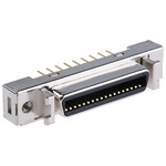 3M Female 36 Pin Straight Through Hole SCSI Connector 2.54mm Pitch, Solder