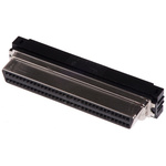 TE Connectivity AMPLIMITE .050 III Series, Female 68 Pin Right Angle Cable Mount SCSI Connector 1.27mm Pitch, Crimp,