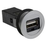 Harting, har-Port USB Connector, Panel Mount, Socket 2.0 A, Straight- Single Port