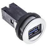 Harting, har-Port USB Connector, Panel Mount, Socket 3.0 A, Straight- Single Port