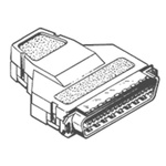 TE Connectivity, 554953 Male 50 Pin Straight Cable Mount SCSI Connector, IDC, No Latch