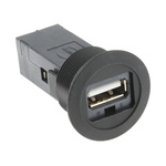 Harting, har-Port USB Connector, Panel Mount, Socket 2.0 A to A, Plug In, Straight- Single Port