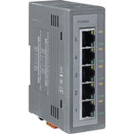 ICP DAS USA Ethernet Switch, 5 RJ45 port DIN Rail Mount